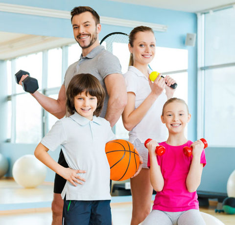 Grafik Fitnessartikel für die ganze Familie